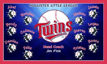 Twins Baseball Banner - Custom Twins Baseball Banner