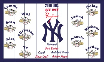 Yankees Baseball Banner - Custom Yankees Baseball Banner