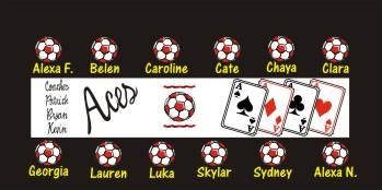 Aces Soccer Banner - Custom Aces Soccer Banner
