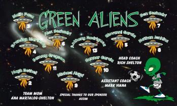 Aliens Soccer Banner - Custom AliensSoccer Banner