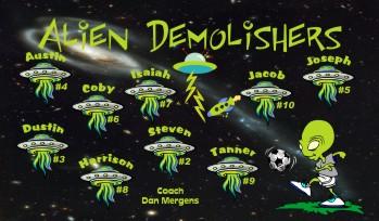 Aliens Soccer Banner - Custom Aliens Soccer Banner
