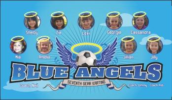 Angels Soccer Banner - Custom Angels Soccer Banner