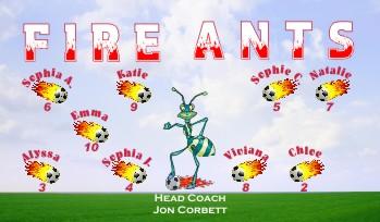 Ants Soccer Banner - Custom Ants Soccer Banner