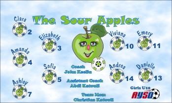 Apples Soccer Banner - Custom Apples Soccer Banner