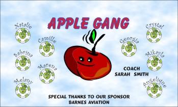 Apples Soccer Banner - Custom ApplesSoccer Banner