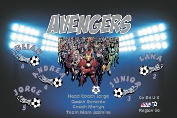 Avengers Soccer Banner - Custom Avengers Soccer Banner