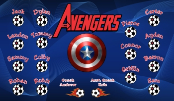 Avengers Soccer Banner - Custom AvengersSoccer Banner