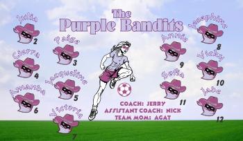Bandits Soccer Banner - Custom Bandits Soccer Banner