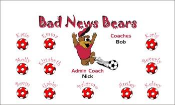 Bears Soccer Banner - Custom BearsSoccer Banner