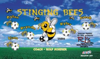 Bees Soccer Banner - Custom BeesSoccer Banner