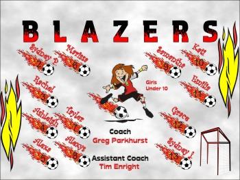 Blazers Soccer Banner - Custom BlazersSoccer Banner