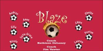 Blazers Soccer Banner - Custom Blazers Soccer Banner