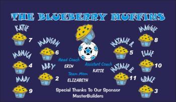 Blueberries Soccer Banner - Custom BlueberriesSoccer Banner