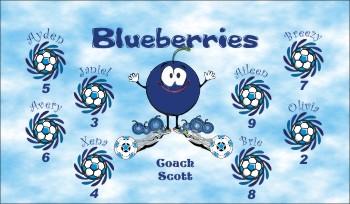 Blueberries Soccer Banner - Custom Blueberries Soccer Banner