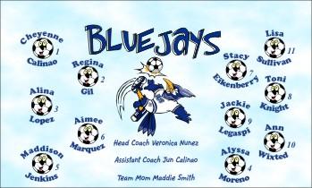 Bluejays Soccer Banner - Custom Bluejays Soccer Banner