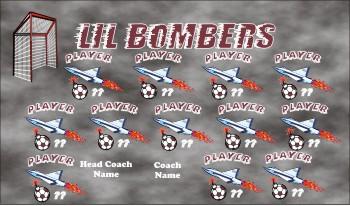 Bombs Soccer Banner - Custom Bombs Soccer Banner