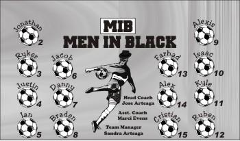 Boys / Men Soccer Banner - Custom Boys / Men Soccer Banner