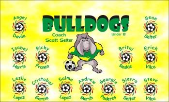Bulldogs Soccer Banner - Custom BulldogsSoccer Banner