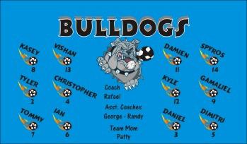 Bulldogs Soccer Banner - Custom Bulldogs Soccer Banner