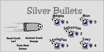 Bullets Soccer Banner - Custom Bullets Soccer Banner
