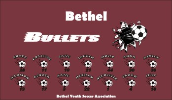 Bullets Soccer Banner - Custom BulletsSoccer Banner