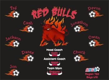 Bulls Soccer Banner - Custom BullsSoccer Banner