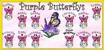Butterflies Soccer Banner - Custom Butterflies Soccer Banner