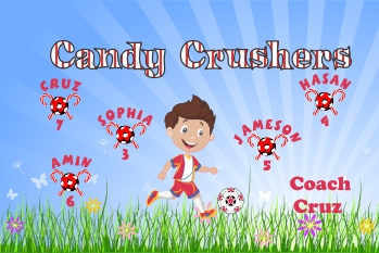Candy Soccer Banner - Custom Candy Soccer Banner