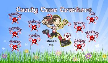 Candy Soccer Banner - Custom CandySoccer Banner