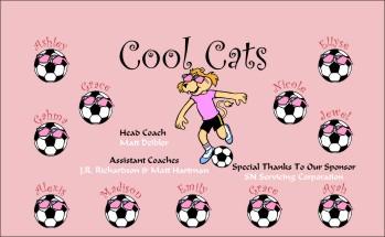 Cats Soccer Banner - Custom CatsSoccer Banner