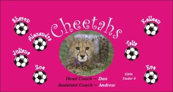 Cheetahs Soccer Banner - Custom Cheetahs Soccer Banner