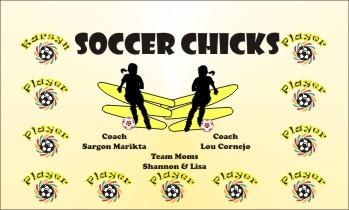 Chicks Soccer Banner - Custom ChicksSoccer Banner