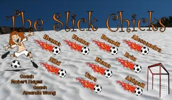 Chicks Soccer Banner - Custom Chicks Soccer Banner