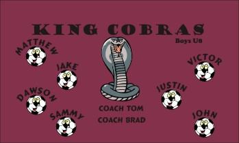 Cobras Soccer Banner - Custom Cobras Soccer Banner