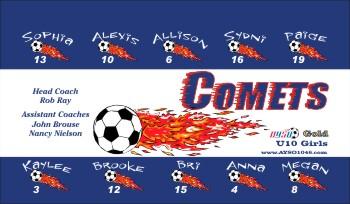 Comets Soccer Banner - Custom CometsSoccer Banner