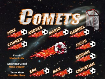Comets Soccer Banner - Custom Comets Soccer Banner