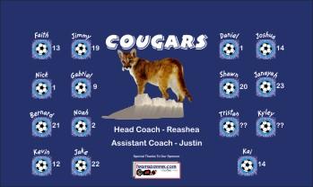 Cougars Soccer Banner - Custom Cougars Soccer Banner
