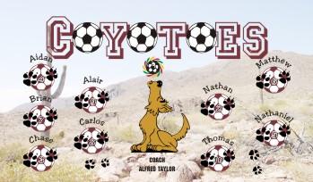 Coyotes Soccer Banner - Custom Coyotes Soccer Banner