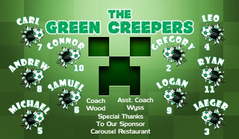 Creepers Soccer Banner - Custom CreepersSoccer Banner