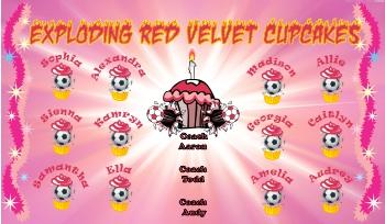 Cupcakes Soccer Banner - Custom Cupcakes Soccer Banner