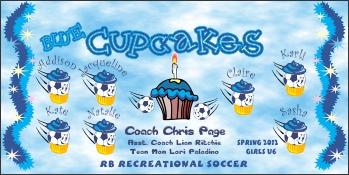 Cupcakes Soccer Banner - Custom CupcakesSoccer Banner