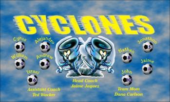 Cyclones Soccer Banner - Custom CyclonesSoccer Banner