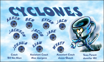 Cyclones Soccer Banner - Custom Cyclones Soccer Banner