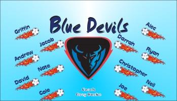 Devils Soccer Banner - Custom Devils Soccer Banner