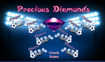 Diamonds Soccer Banner - Custom Diamonds Soccer Banner