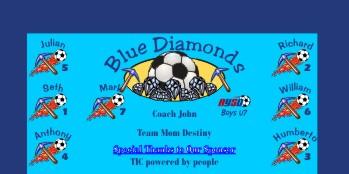 Diamonds Soccer Banner - Custom DiamondsSoccer Banner