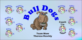 Dogs Soccer Banner - Custom DogsSoccer Banner