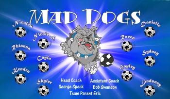 Dogs Soccer Banner - Custom Dogs Soccer Banner