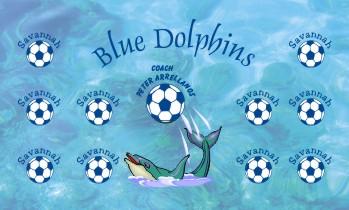 Dolphins Soccer Banner - Custom Dolphins Soccer Banner