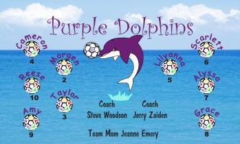 Dolphins Soccer Banner - Custom DolphinsSoccer Banner